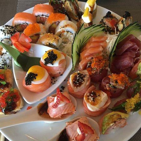Excelente sushi de fusão