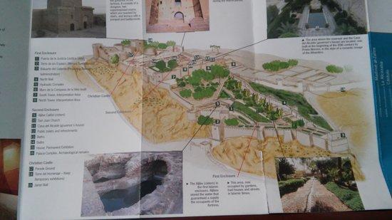 Conjunto Monumental de La Alcazaba: Map of Almeria alcazabra