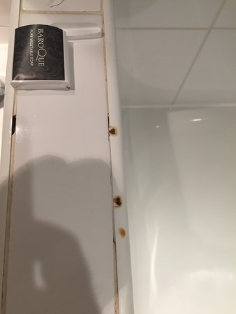 Corus Hotel Hyde Park London: Cigarette stains in the bathroom