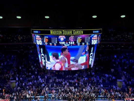 Madison Square Garden: le match