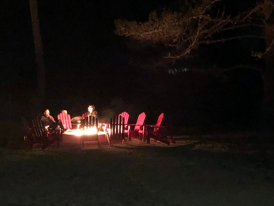 One of many gas fire pits at Oceanpoint Ranch