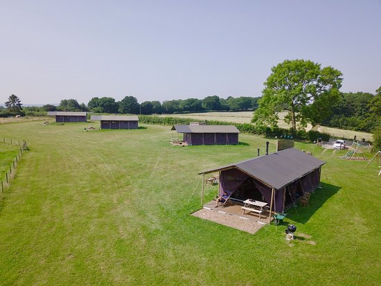 Sherfield English, UK: View of glamping field