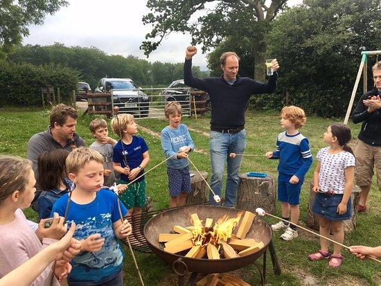 Sherfield English, UK: Camp fire fun