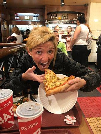 Sbarro: Pizza de champignones!
