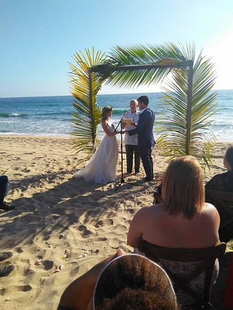 Beach location for ceremony