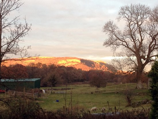Witherslack, UK: A winter sunset over Whitbarrow Scar taken from the guest's garden.