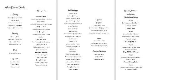Riverside Hotel Killarney: Hotel Drinks Menu Pages 4-6