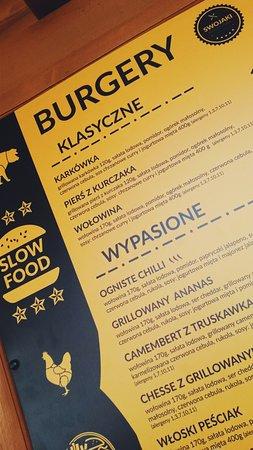Slesin, بولندا: burgerowe menu