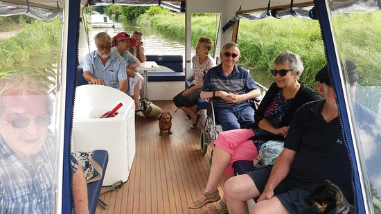 Bathampton, UK: An inside view of the Sir Knill Waterbus
