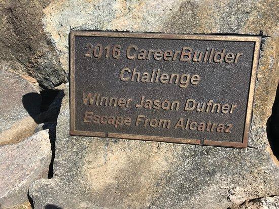 PGA West TPC Stadium Golf Course: Jason Dufner's bounce across the bridge