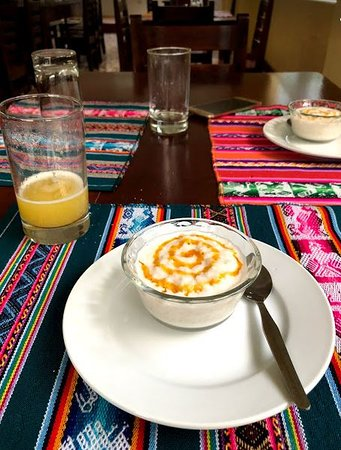 Santa Teresa, Peru: Arroz con leche y dulce de maracuya