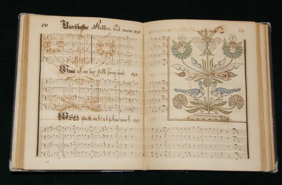 The Brothers and Sisters at Ephrata composed over 1000 hymns.