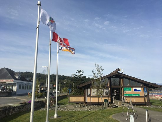 Port McNeill Harbour & Information Center front entrance