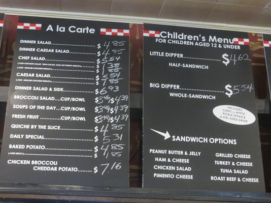 Must Be Heaven: Menu