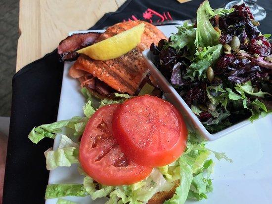 Chase, Canada: Steelhead and salmon bacon: delish!