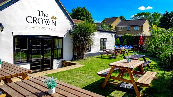 Cowley, UK: Our Beer Garden (With Bouncer Castle)