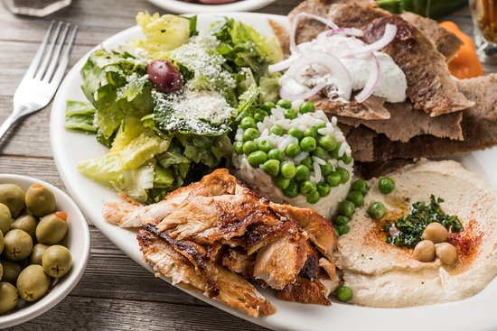 Madison, MS: Combination plate consisting of Gyro and Shawerma