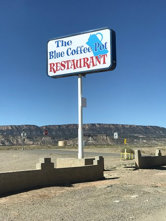Kayenta, AZ: Restaurant sign from the freeway