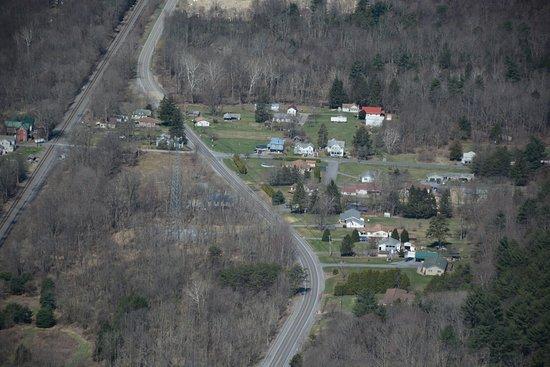 Renovo, Pensilvania: Close up of Hyner, PA