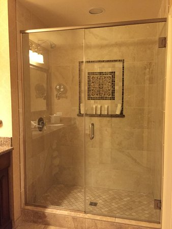 The Meritage Resort And Spa Good Sized Shower Tall Doors No Towel Rack