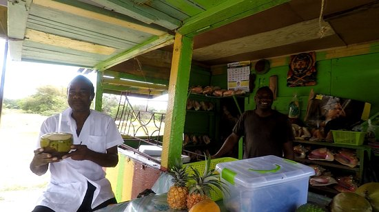 Luxurious Carib Tours and Taxi Jamaica: coconut drinks