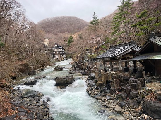 Takaragawa Onsen: View from the bridge