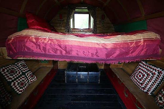 Northlew, UK: Inside our Gypsy Caravan