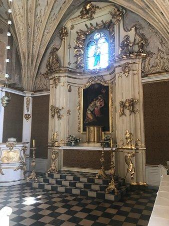 Lidzbark Warminski, Poland: ołtarz w kaplicy zamkowej