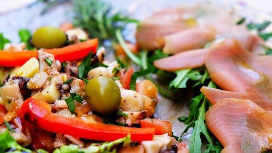 Jurin Podrum: octopus salat, smoked tuna