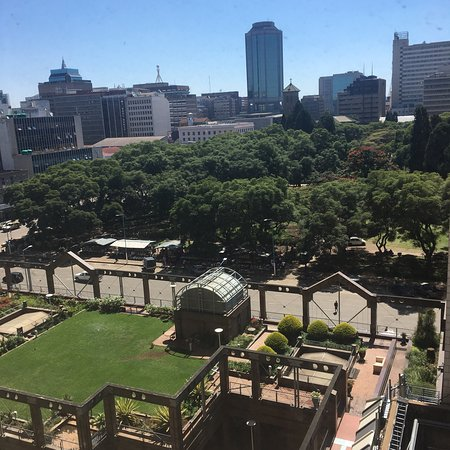 Meikles Hotel: Meikels visit April 2018 Pictures from room window, room and venues Mirabelle, Stewart and Roof