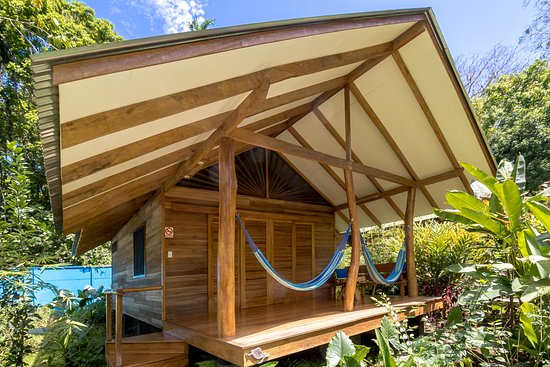 Cocles, Costa Rica: 2 hammocks in the 5 meters wide, surrounded by lush vegetation for a total privacy