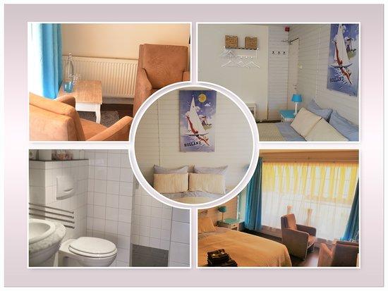 Kamer bed koelkastje slaapbank smart tv led haard badkamer