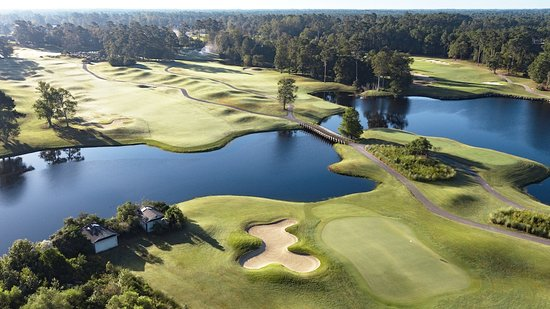 Sunset Beach, Kuzey Carolina: Panther's Run 18th green and 10th tee