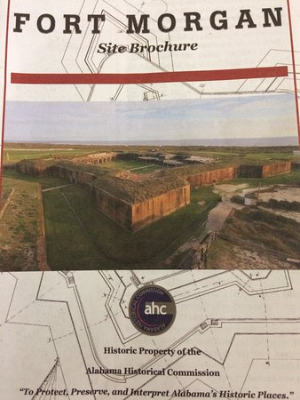 Fort Morgan, AL: Great brochure you will get upon arriving at gate.