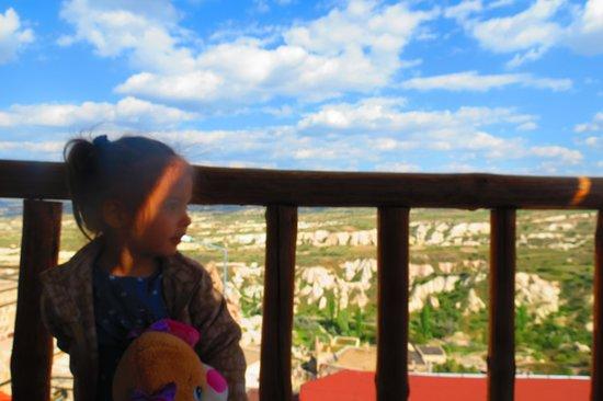 Uchisar Cave Pansion: manzaramız