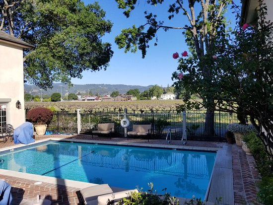 Vineyard Country Inn: Swimming Pool and Hot Tub with a View