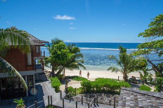 Anse Forbans, Seychellene: Aussicht vom Balkon