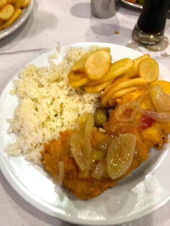 O Burgo: il piatto del giorno baccalà riso e patate