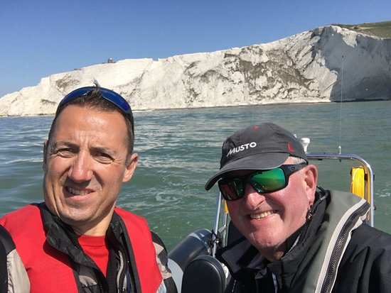 Solent Rib Charter: My guide and i near the needles
