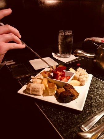 Town and Country, MO: Some of the dippers for the chocolate fondue