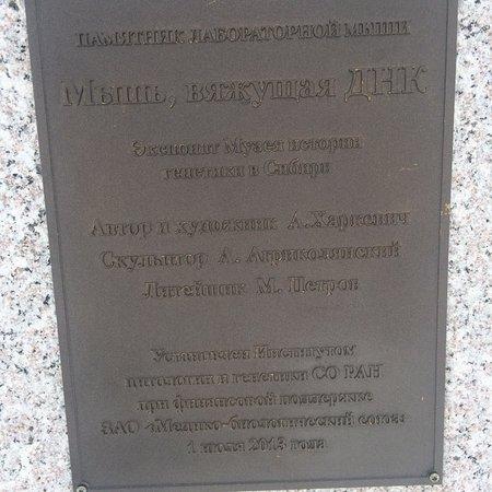Monument of Laboratory Mice: Памятник Лабораторной Мыши