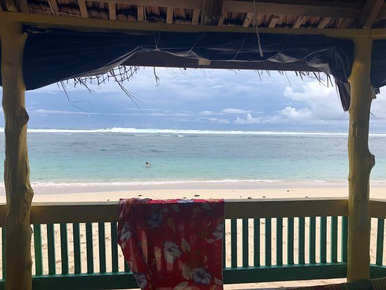 Lalomanu, ساموا: View from our beach fale