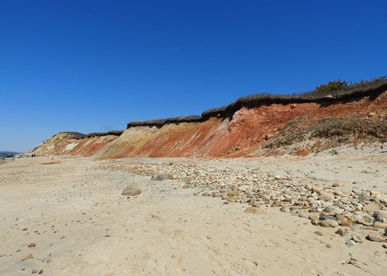 Aquinnah Cliffs: The cliffs from the end of the trail; check out the beautiful colors!
