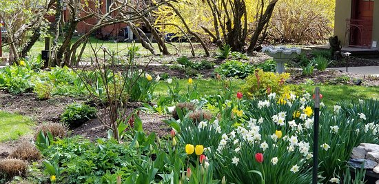 The Lancaster Bed and Breakfast: Beautiful spring flowers