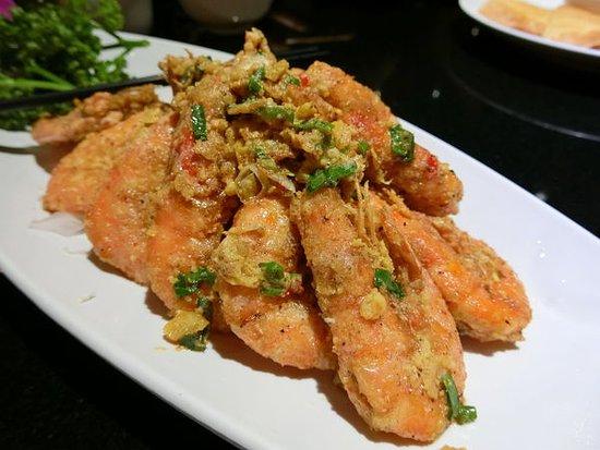 Qi Cai Yunnan Restaurant: 蒜味黃金蝦