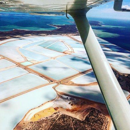 Useless Loop Salt mine - Picture of Shark Bay Aviation