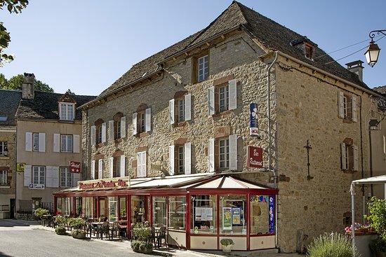 La Canourgue, France: hôtel** LOGIS, restaurant, avec parking privé