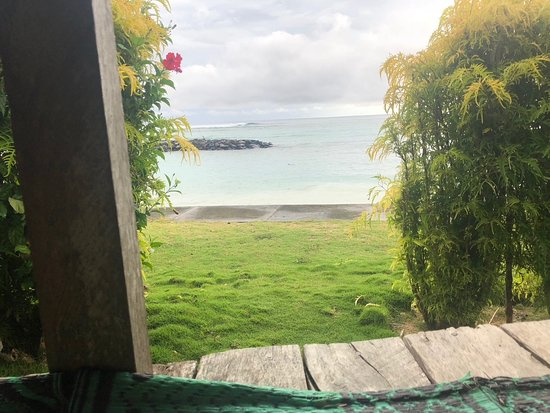Savai'i, Samoa: Watching the turtles from our fale