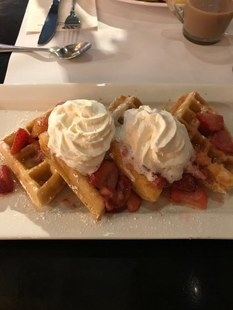 Eggspectation: waffles