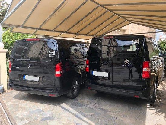 Paleo Faliro, اليونان: Mercedes Vito 2016 XL, Peugeot Traveller 2018 XL